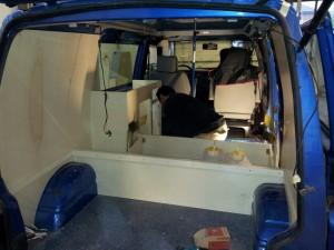 VW camper, VW T4 camper, VW camper bouwen, hefdak VW T4