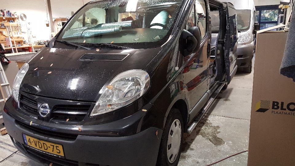 Nissan Primastar camper met hefdak (afgerond)