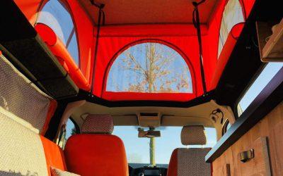 VW T5 camper met uniek hefdak